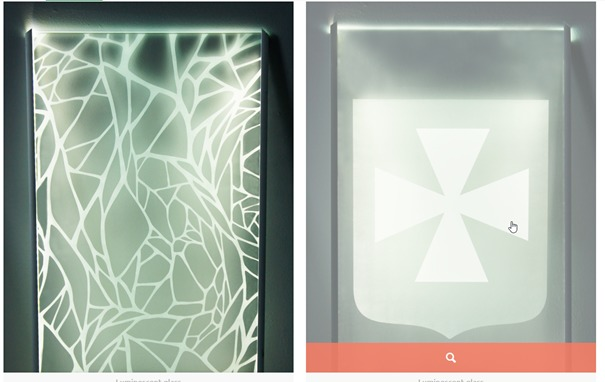 Luminiscenčné sklo
